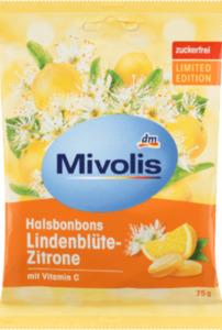 Mivolis Bonbon, Lindenblüte-Zitrone, zuckerfrei
