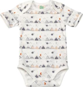 ALANA Baby Body, Gr. 98/104, in Bio-Baumwolle, weiß, blau, für Mädchen und Jungen