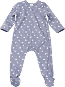 ALANA Baby Schlafanzug, Gr. 62/68, in Bio-Baumwolle, blau, weiß, für Mädchen und Jungen