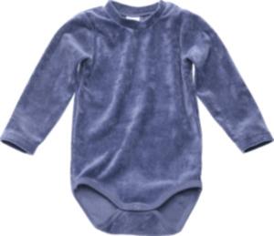 ALANA Baby Body, Gr. 86/92, in Bio-Baumwolle und recyceltem Polyacryl, blau, für Mädchen und Jungen