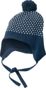 ALANA Baby Mütze, Gr. 46/47, in Bio-Baumwolle, blau, weiß, für Mädchen und Jungen