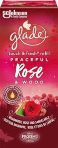 Glade Minispray Nachfüller Touch & Fresh Peaceful Rose Wood (Rhabarber, Rose & Sandelholz)