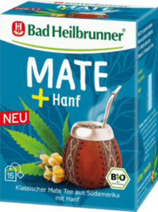 Bad Heilbrunner Kräuter-Tee, Mate Tee mit Hanf