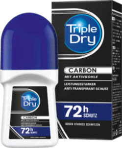 Triple Dry Deo Roll On Antitranspirant Men Carbon