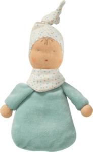 ALANA Baby-Püppchen mit Traubenkernfüllung, blau, weiß, für Mädchen und Jungen