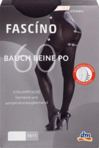 FASCÍNO Strumpfhose Bauch-Beine-Po, 60 den, schwarz, Gr. 46-48