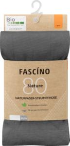 FASCÍNO Strumpfhose Biofeel, 80 den, grau, Gr. 42/44