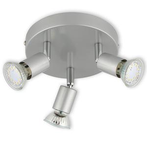 LED-Spotrondell - titan - 3-flammig - warmweiß