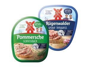 Rügenwalder Mühle Pommersche Gutsleberwurst/ Rügenwalder Teewurst