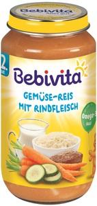 Bebivita Gemüse-Reis mit Rindfleisch ab dem 12. Monat 250 g