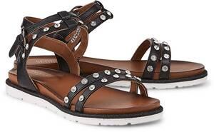 Sommer-Sandale von Drievholt in schwarz für Damen. Gr. 37,38,39,40