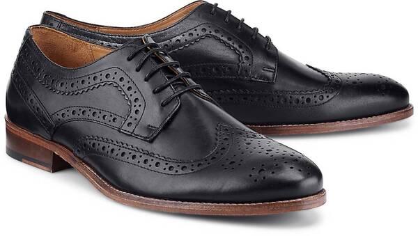 Business-Schnürschuh von COX in schwarz für Herren. Gr. 41,42,44,45