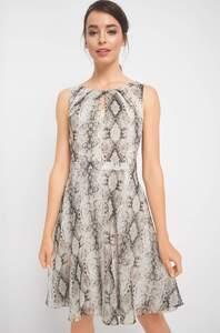 Kleid mit Schlangenmuster