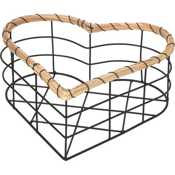 Großer Metallkorb in Herz-Form