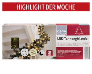 CASA Deco LED-Tannengirlande