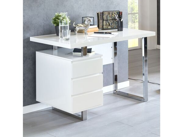 Schreibtisch Hochglanz Weiß 2021