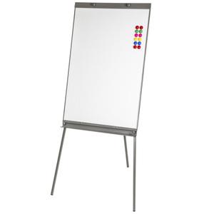 Flipchart Moderationstafel 65x95cm weiß mit 12 Magneten