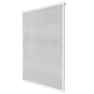 Fliegengitter für Fensterrahmen weiß 100 x 120 cm