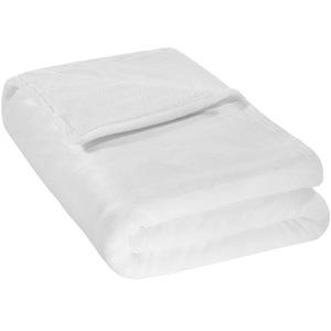 Kuscheldecke Polyester weiß 220 x 240 cm