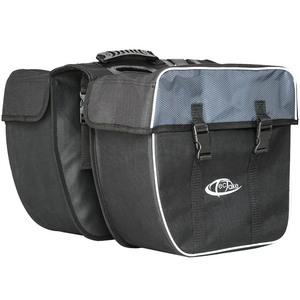 Fahrradtasche mit Gepäckträger-Befestigung und Reflektorstreifen