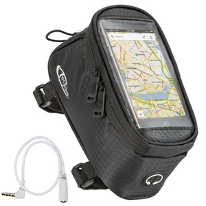 Fahrradtasche mit Rahmen-Befestigung für Smartphones schwarz 20,5...