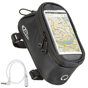 Fahrradtasche mit Rahmen-Befestigung für Smartphones schwarz 20 x...