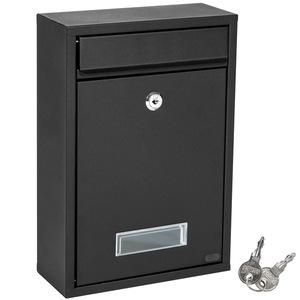 Stahl Briefkasten schwarz