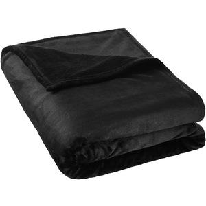 Kuscheldecke Polyester schwarz 220 x 240 cm
