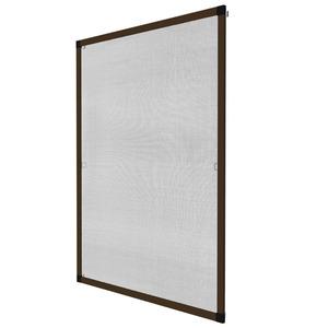 Fliegengitter für Fensterrahmen braun 120 x 140 cm