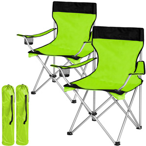 2 Campingstühle grün
