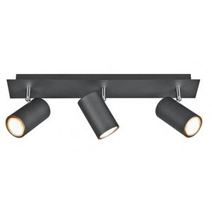 TRIO Retrofit Deckenlampe MARLEY 3-flammig 48 cm Metall mattschwarz