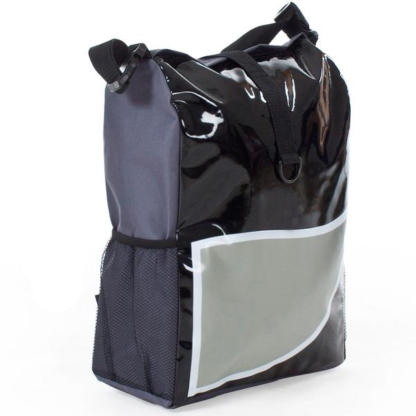 Fahrradtasche wasserabweisend schwarz/grau