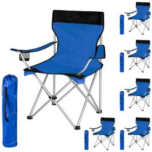 6 Campingstühle blau