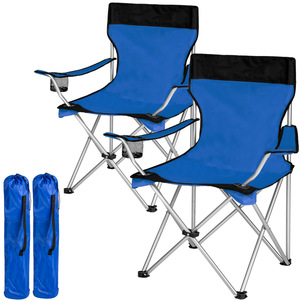 2 Campingstühle blau