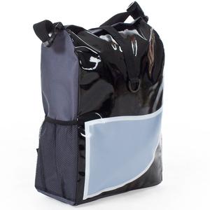 Fahrradtasche wasserabweisend schwarz/blau