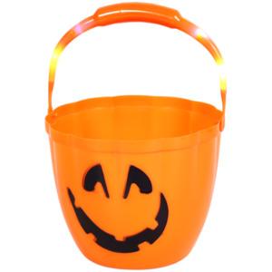 Halloween-Eimer mit Licht