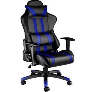 Premium Racing Bürostuhl mit Streifen schwarz/blau