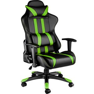 Premium Racing Bürostuhl mit Streifen schwarz/grün