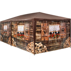 Garten Pavillon 6x3m Almhütte mit 6 Seitenteilen