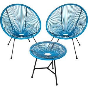 2 Gartenstühle Gabriella mit Tisch blau