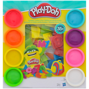 Play-doh Zahlen und Buchstaben