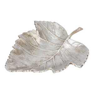 Schale in Blattform, ca. 32x25x6cm