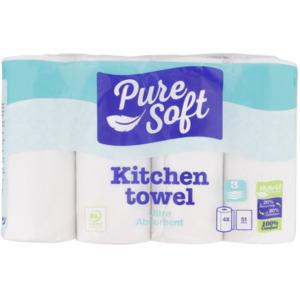 Pure Soft Küchenrollen Ultra absorbierend