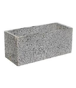 Granit-Pflanztrog, grau