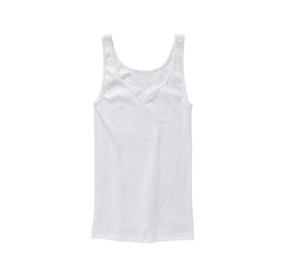 Bild 1 von Damen-Unterhemd mit Spitzeneinsatz