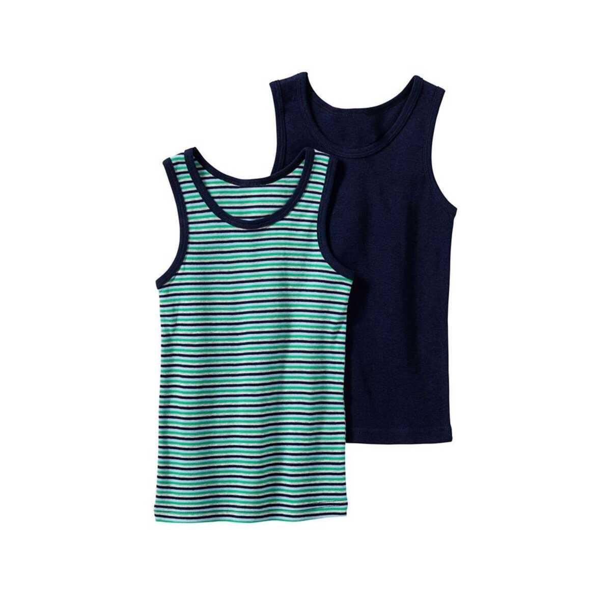 Bild 1 von Jungen-Unterhemd aus reiner Baumwolle, 2er Pack