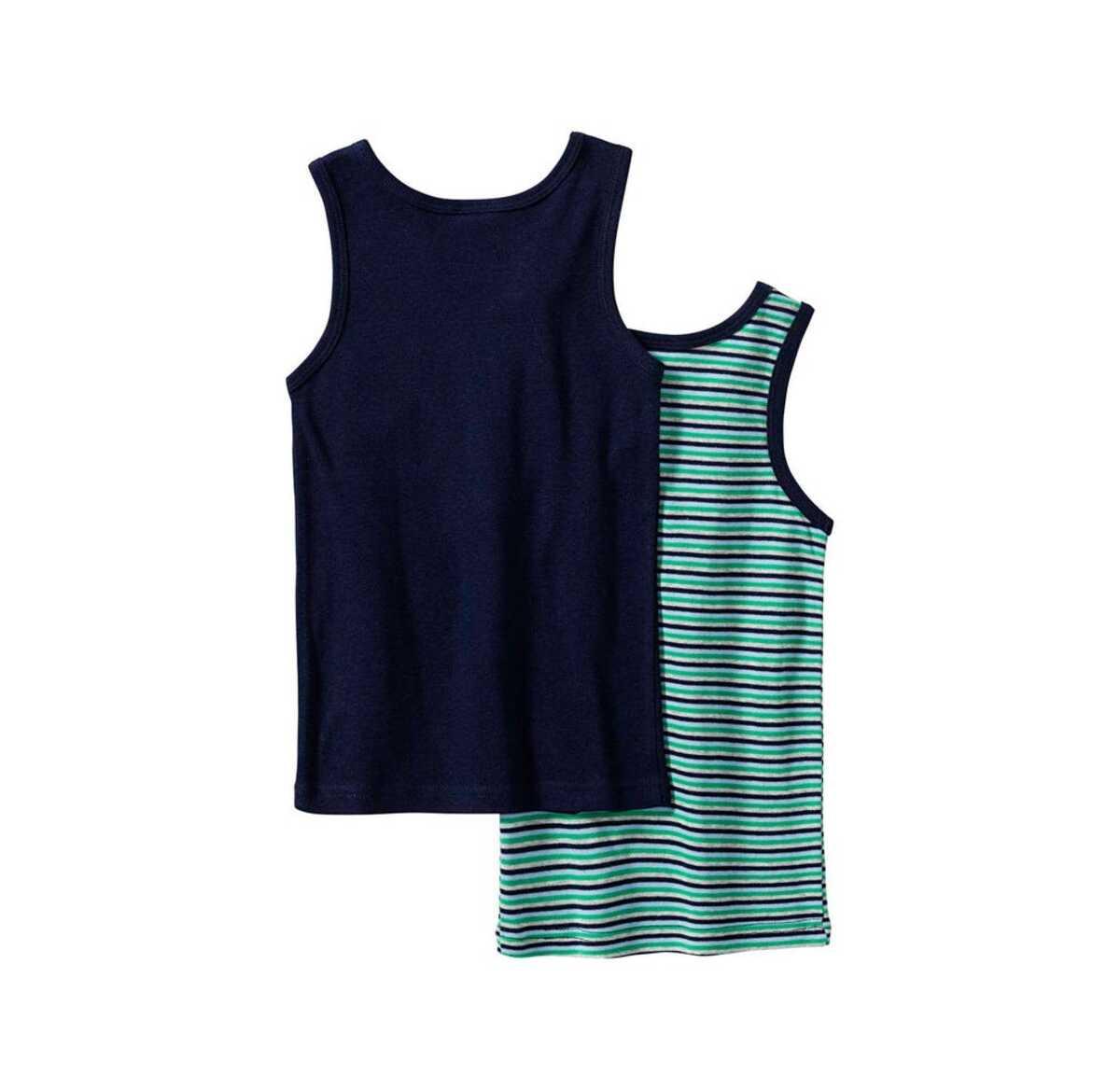 Bild 2 von Jungen-Unterhemd aus reiner Baumwolle, 2er Pack