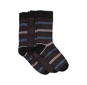 Damen-Socken mit modernem Ringelmuster, 3er Pack