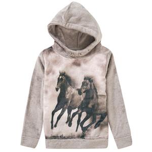 Mädchen Kuschelpullover mit Pferde-Motiv