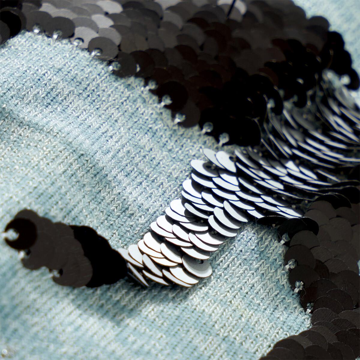 Bild 5 von Mädchen Feinstrickshirt mit Wendepailletten
